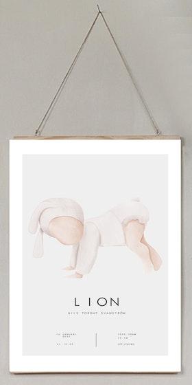 Födelseposter/doptavla/namntavla Cute baby