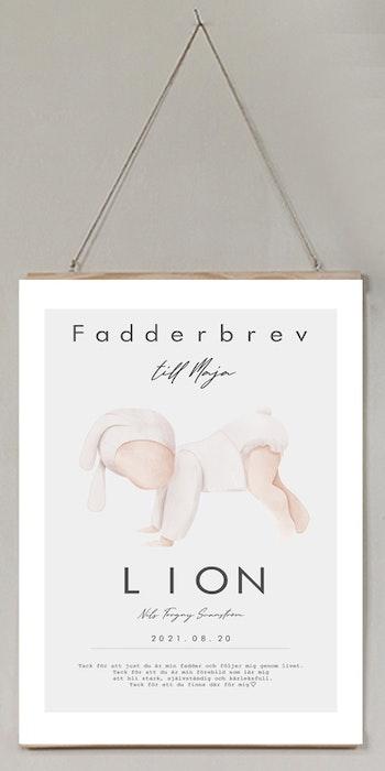Fadderbrev, cute baby