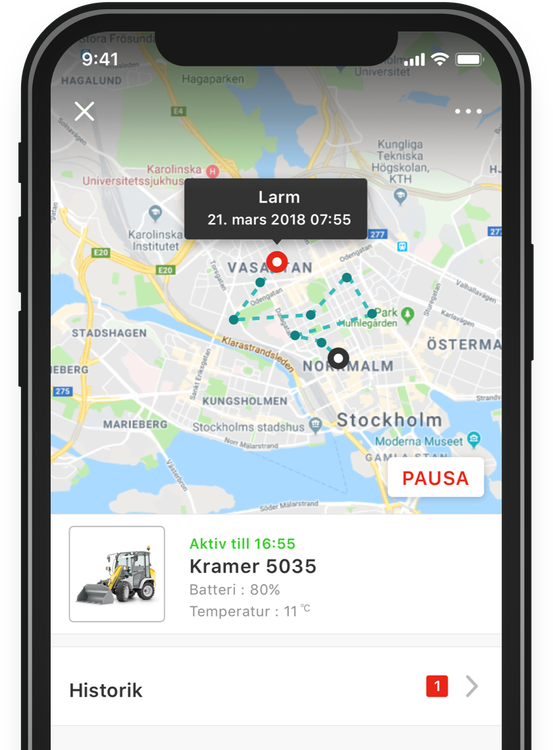 GPS-pucken, spårsändare