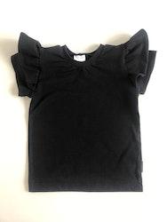 T shirt med volang svart