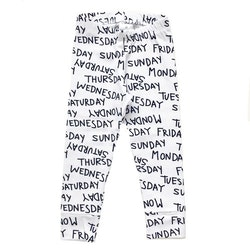 Weekdays Leggings black/white