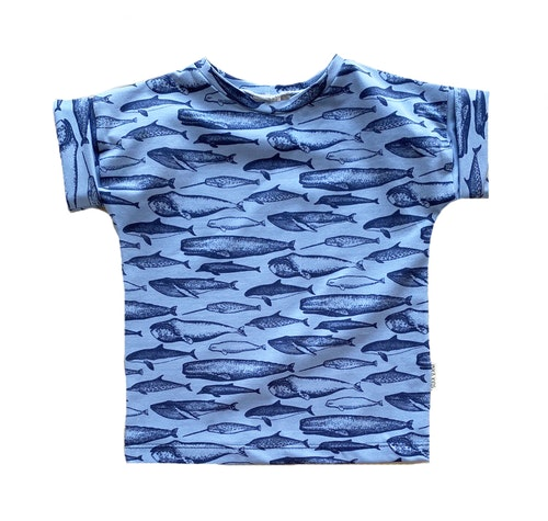 T-shirt med uppvik 62-104 VALFRITT TYG