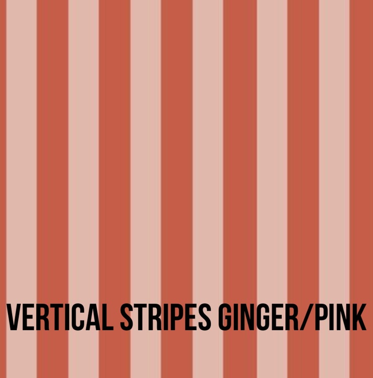 Donut mössa Vertical Stripes ginger/pink