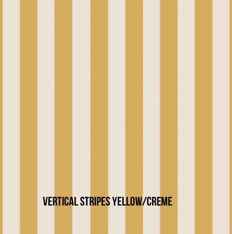 Donut mössa Vertical Stripes gold/creme
