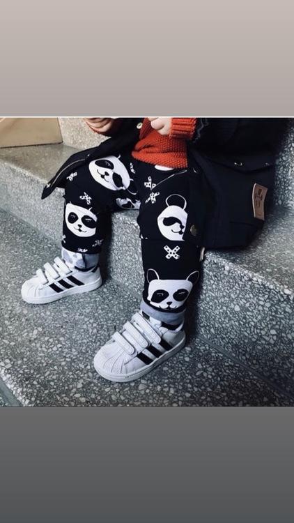 Panda black leggings