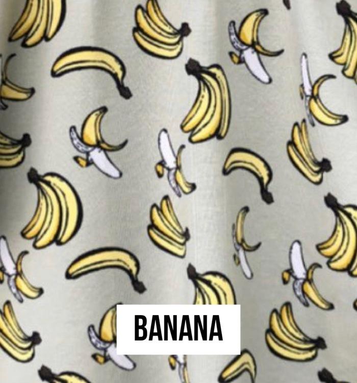 Banana  babymössa med knut
