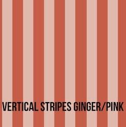Vertical stripes ginger pink babymössa med knut