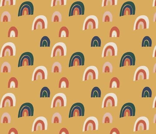Rainbow gold babymössa med knut