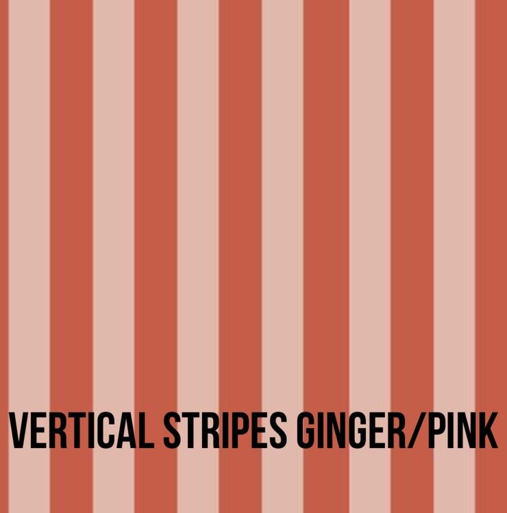 Vertical stripes ginger/pink tubsjal