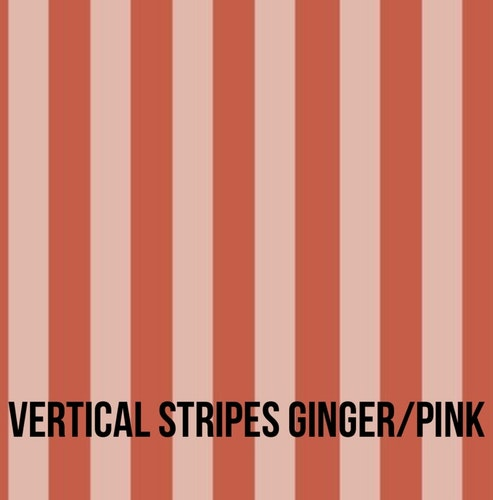 Vertical stripes ginger/pink tubsjal