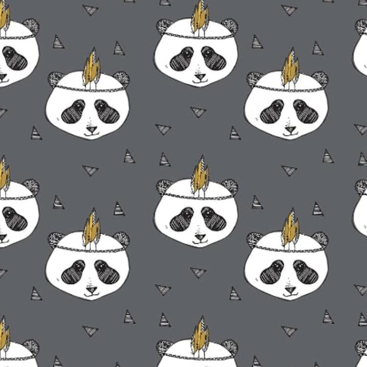Panda mörkgrå tunika kort ärm