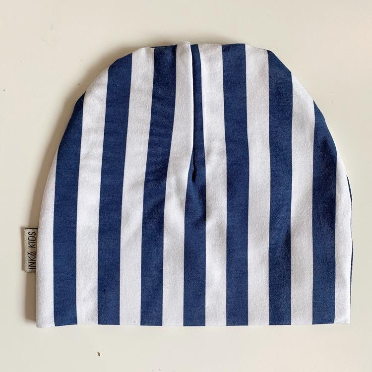 Vertical stripes blue mössa
