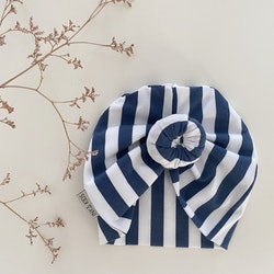 Donut mössa Vertical Stripes blue/white