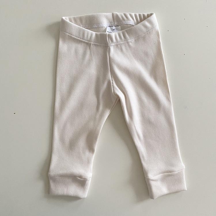 Ribb creme leggings