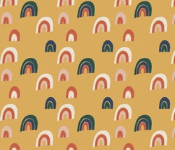 Rainbow gold rosett mössa