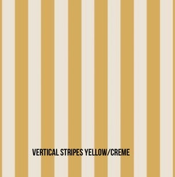 Vertical Stripes yellow rosett mössa