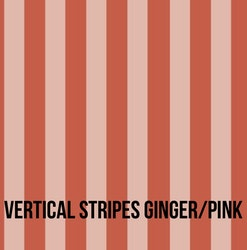 Vertical Stripes ginger pink rosett mössa