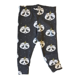 Panda leggings mörkgrå