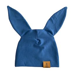 "Mössa ""Little bunny"" soft blue"