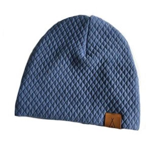 Quilt mössa blå