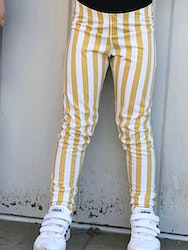 Vertical stripes Leggings gold