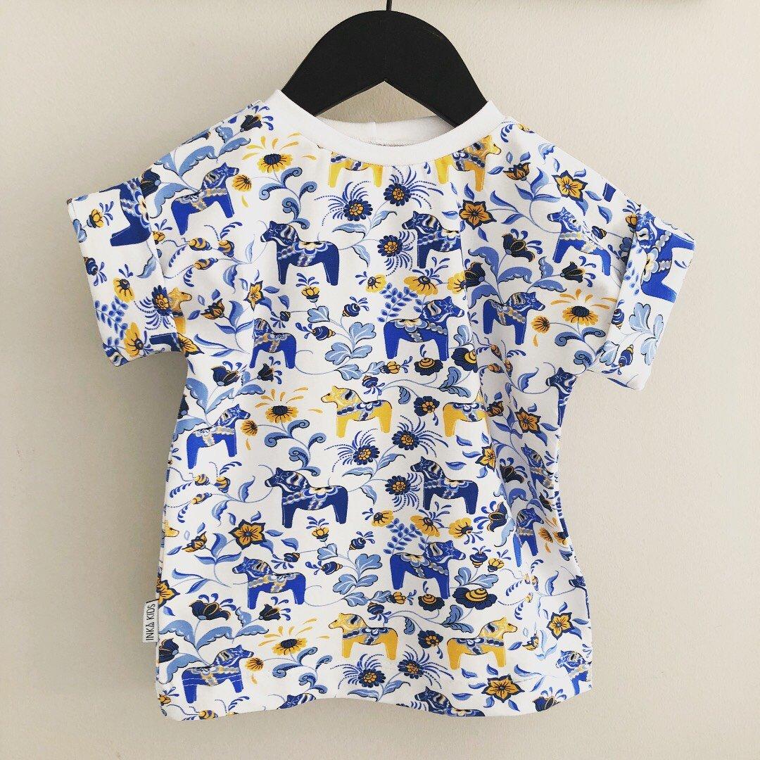 Leksand t shirt med uppvik
