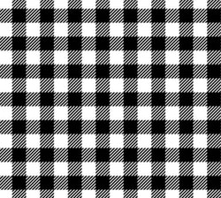 Plaid mössa black/white