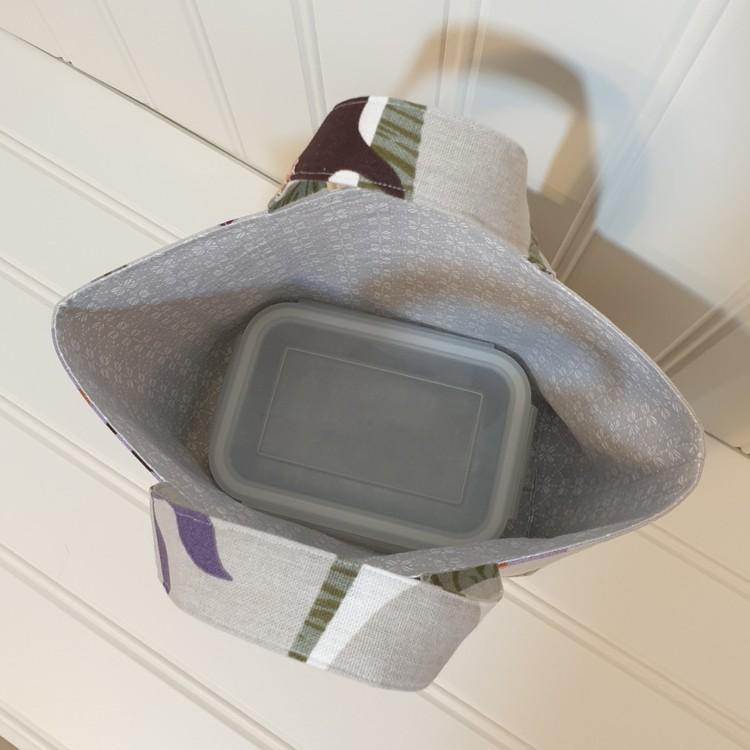 Lunchväska i återbrukat tyg