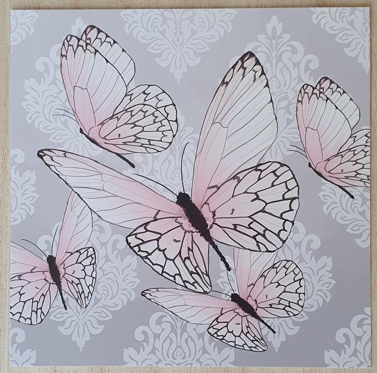 Fjärilar ljusrosa