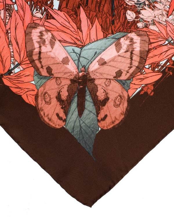 Soldiser designer silk scarf Thrud Thor Pink Scarf hand rolled hems