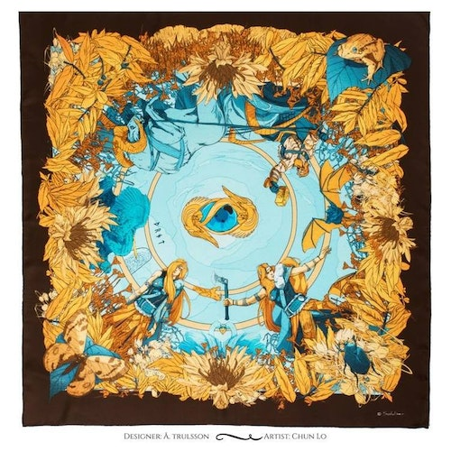 Goddess Thrud Yellow Silk Scarf