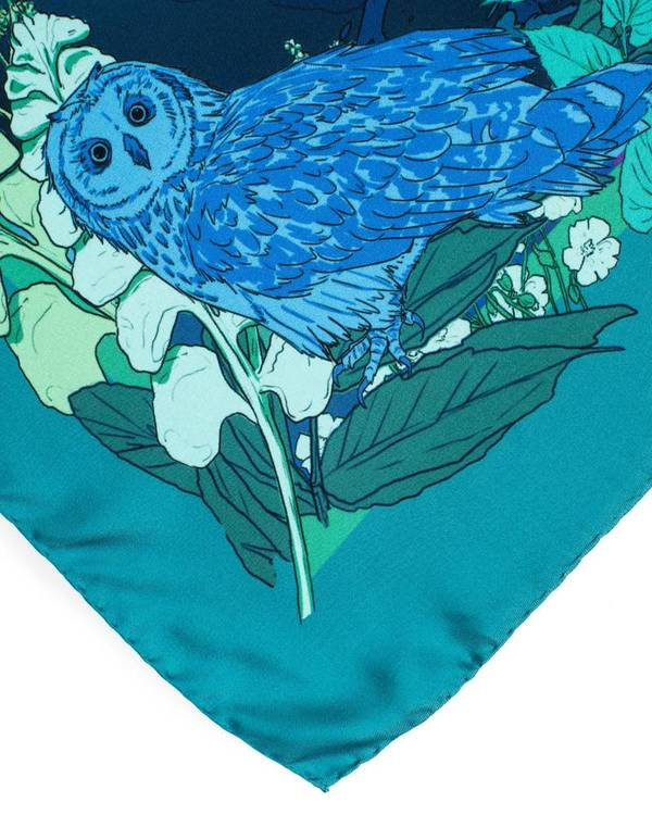 Soldiser goddess Night designer silk scarf hand rolled hems