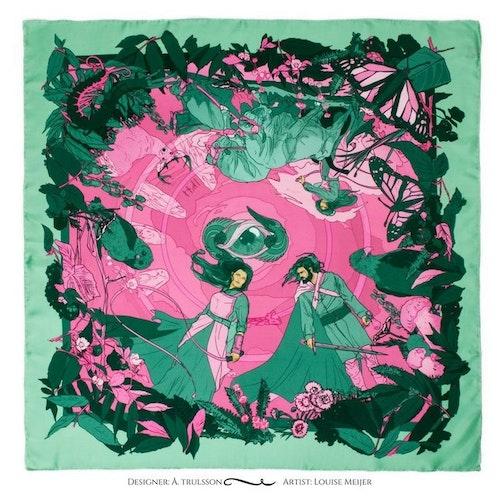Gudinnan Gefjuns gröna sidenscarf