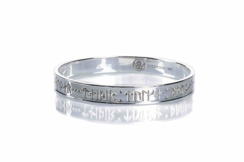 Goddess Thrud Silver Bangle