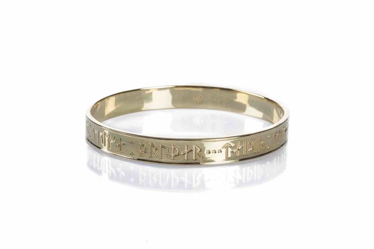 Soldiser Goddess Thrud Viking Gold Bangle