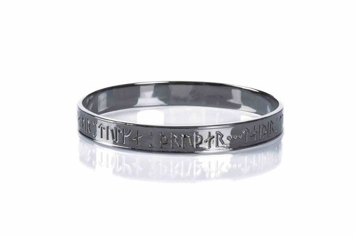 Goddess Thrud Black Silver Bangle