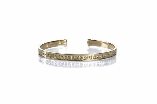 Goddess Thrud Gold Bracelet