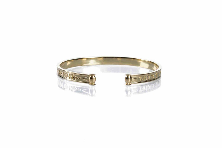 Soldiser Goddess Thrud Viking Gold Bracelet