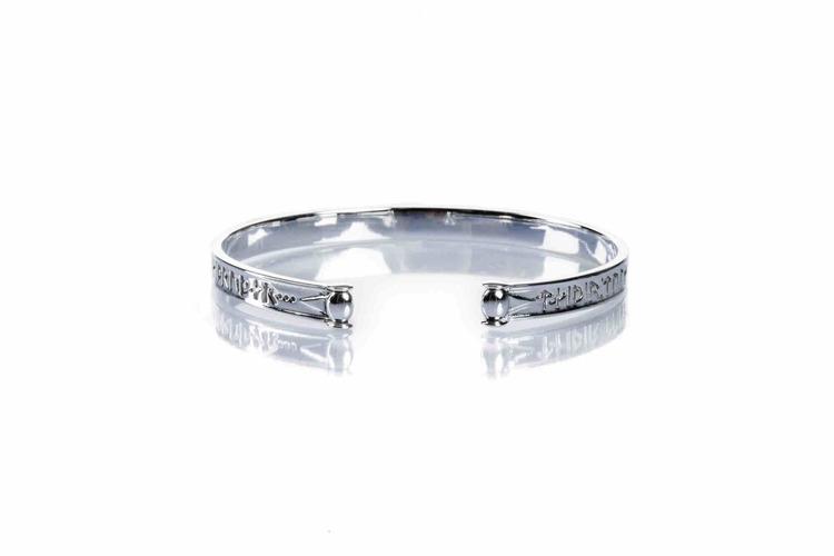 Soldiser Goddess Thrud Norse Silver Bracelet