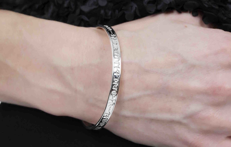 Soldiser Thrud Norse Silver Rune Bracelet
