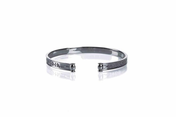 Soldiser Goddess Thrud Viking Black Silver Bracelet