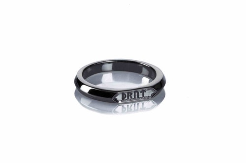 Goddess Thrud Black Silver Ring