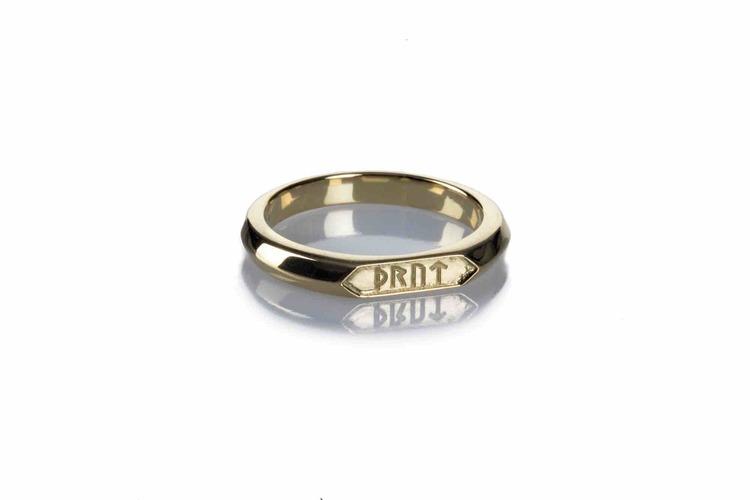 Soldiser Goddess Thrud Norse Gold Ring