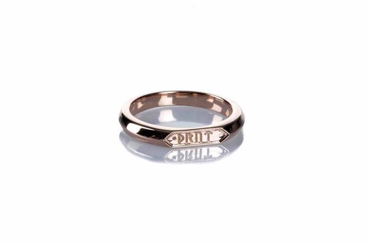 Soldiser Goddess Thrud Norse Rose Gold Ring