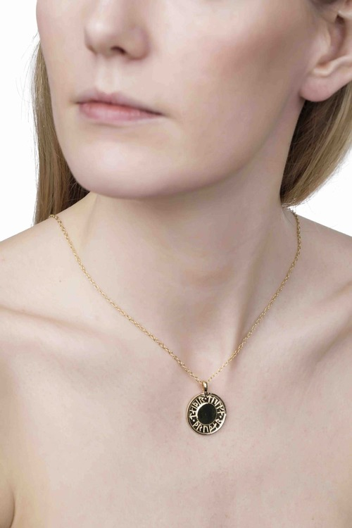 Soldiser Thrud Norse Gold Rune Necklace