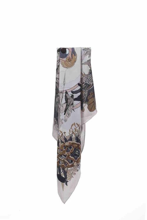 Soldiser Norse Goddess Frigg Silk Scarf