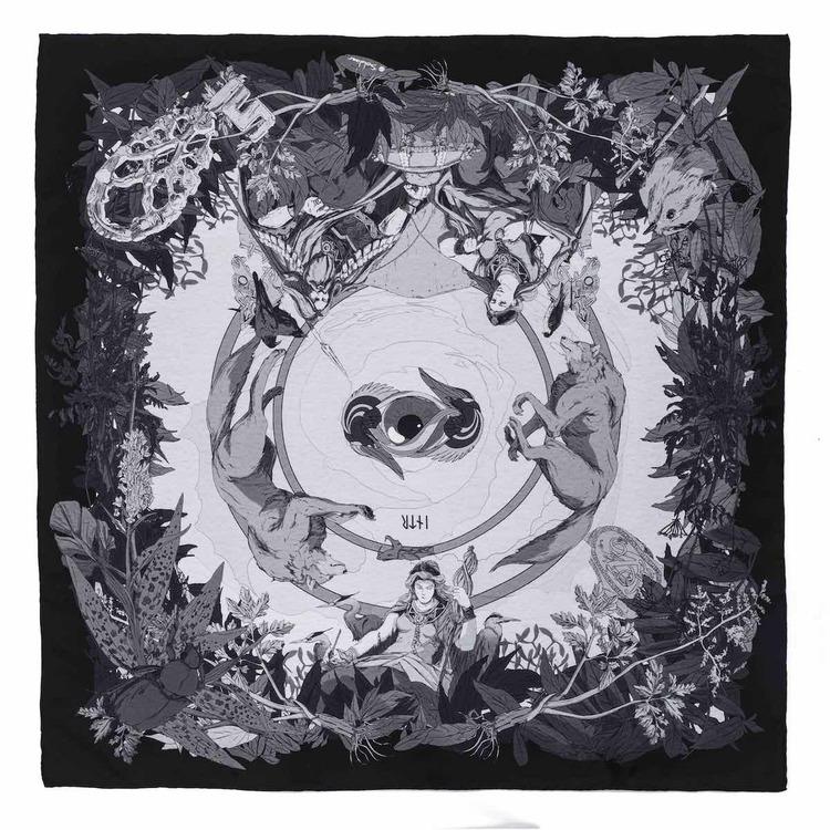 Soldiser Goddess Frigg Black Silk Scarf