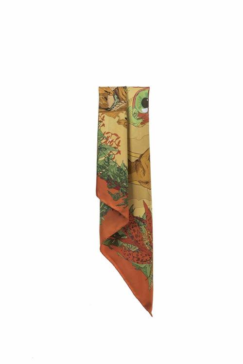 Soldiser Frigg Orange Silk Scarf Hanging