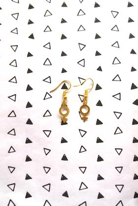 Örhängen kvinnosymboler i 18K guld
