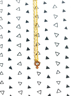 Halsband med kvinnosymbol i guld